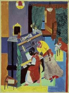 """Piano Lesson"" by Romare Bearden, 1983"